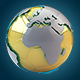 Golden Soccer Football Earth Planet