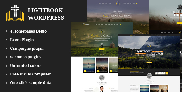 Image of Church Events WordPress Theme - LightBook