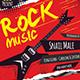 Rock Music Concert Flyer / Poster Template