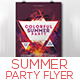 Colorful Summer Party Flyer