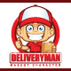 Deliveryman Courier Mascot Character