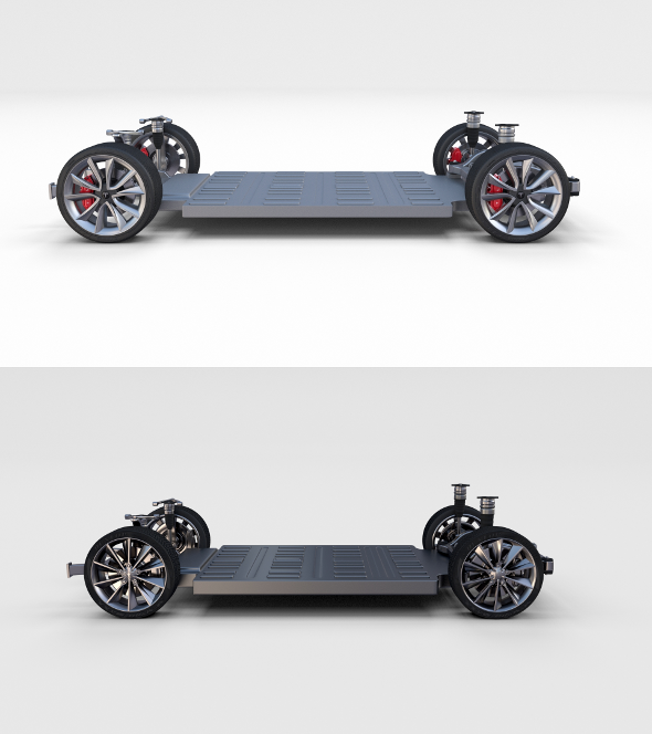 Tesla Model 3 and Model S Chassis Pack