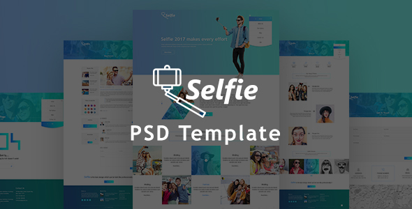 Selfy Photography PSD Template