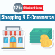 Shopping and E-Commerce Flat Paper