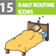 Daily routine pack icons
