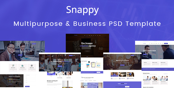Snappy - Multipurpose & Business PSD Template