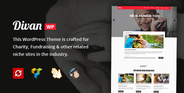 Divan – Charity, Donation & Fundraising WordPress Theme (Charity) images
