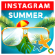 Summer Instagram Templates - 5 Designs