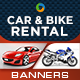 Car and Bike Rental Banners