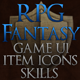 Fantasy RPG UI with 150 Item Icons and 182 Skill Icons