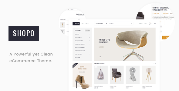 Shopo - Simple & Clean Responsive Shopify Template
