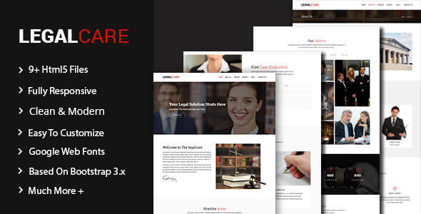 Legalcare - Law Agency HTML5 Template