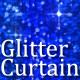 Glitter Curtain Blue