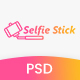 Selfie Stick Photography PSD Template