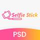Selfie Stick Photography PSD Template