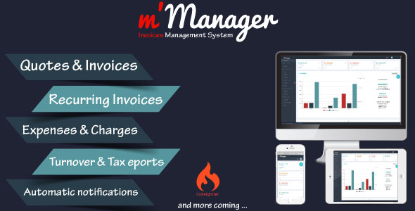 m'Manager – Invoices Management System (PHP Scripts) images