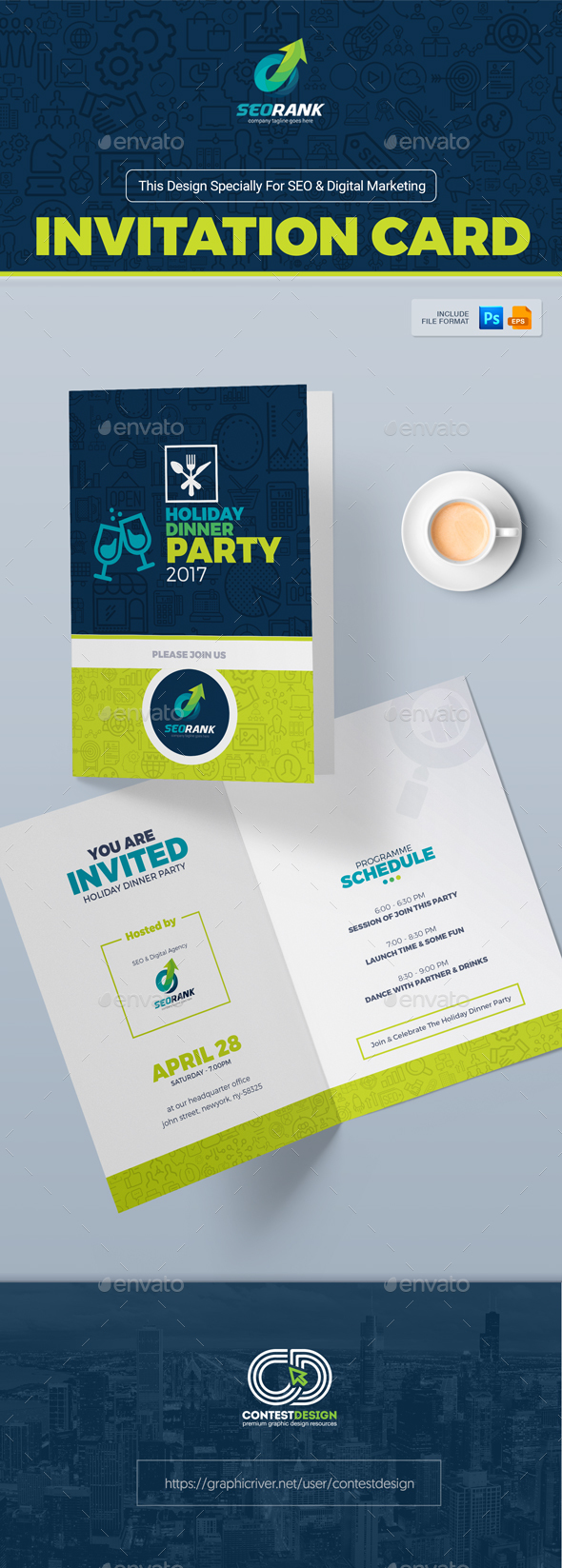 Invitation Templates from GraphicRiver – Party Invitation Card Design