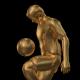 Golden Soccer Player Knee Kick - 2 Scene