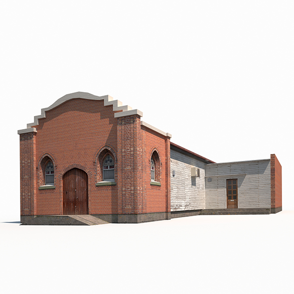 3DOcean Church Old Building Low Poly 19907917