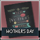Typographic Mothers Day Greeting Cards