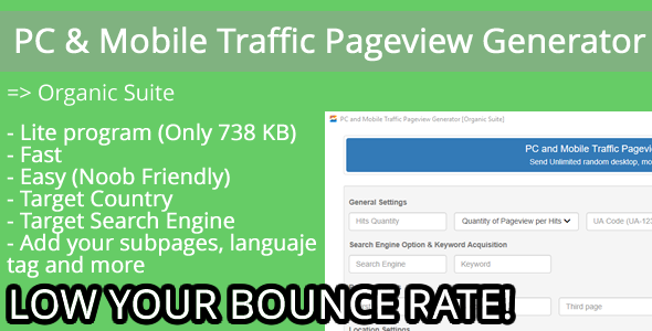 CodeCanyon PC and Mobile Traffic Pageview Generator [Organic Suite] 19909278