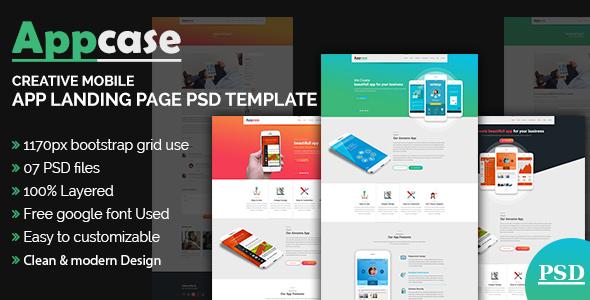 AppCase App Landing Page Template