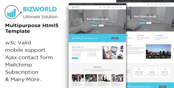 Download BIZWORLD - Multipurpose HTML5 Template