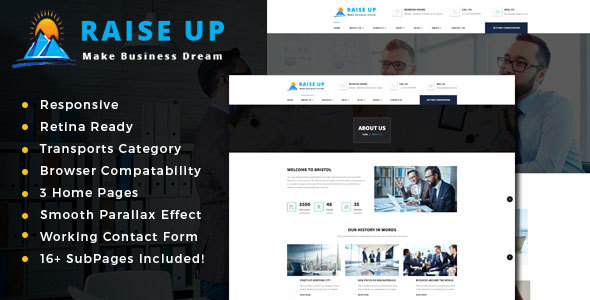 Raise Up : Business Consulting  HTML Template