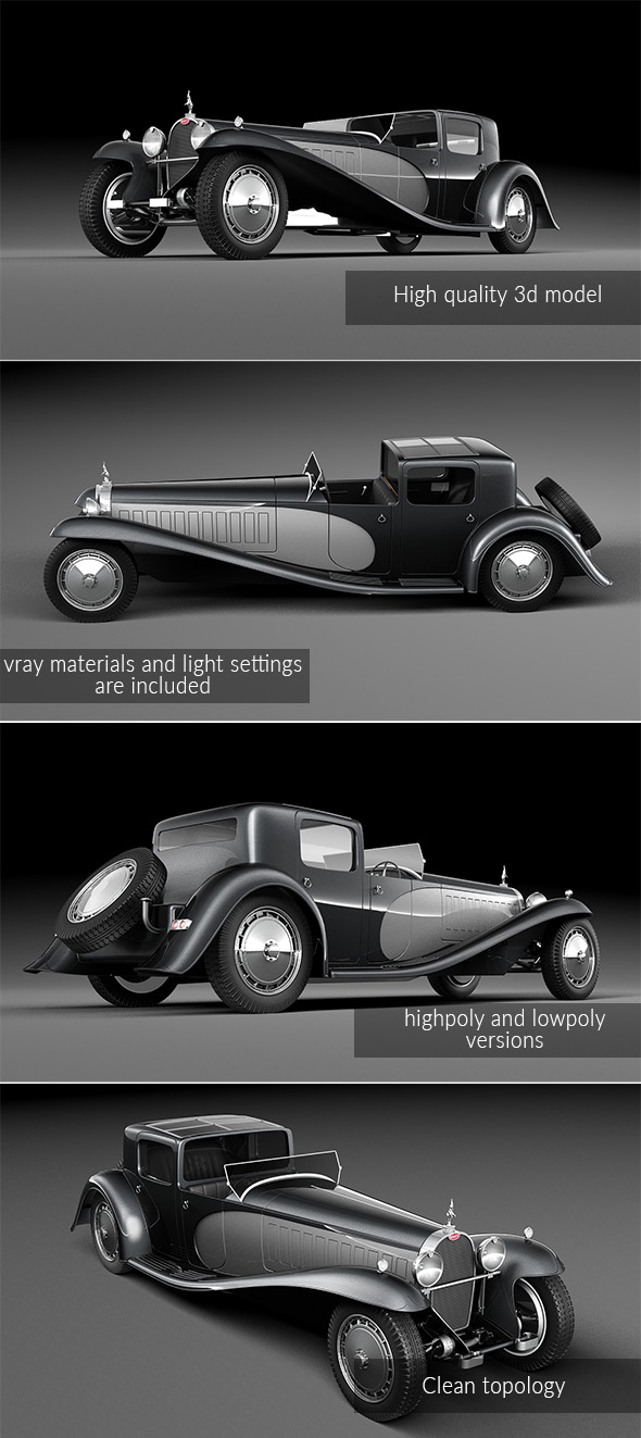 3DOcean Bugatti Type 41 Royale Coupe 19910527
