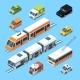 Isometric Municipal Transport Set