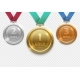 Olympic Gold, Silver and Bronze Award Medals