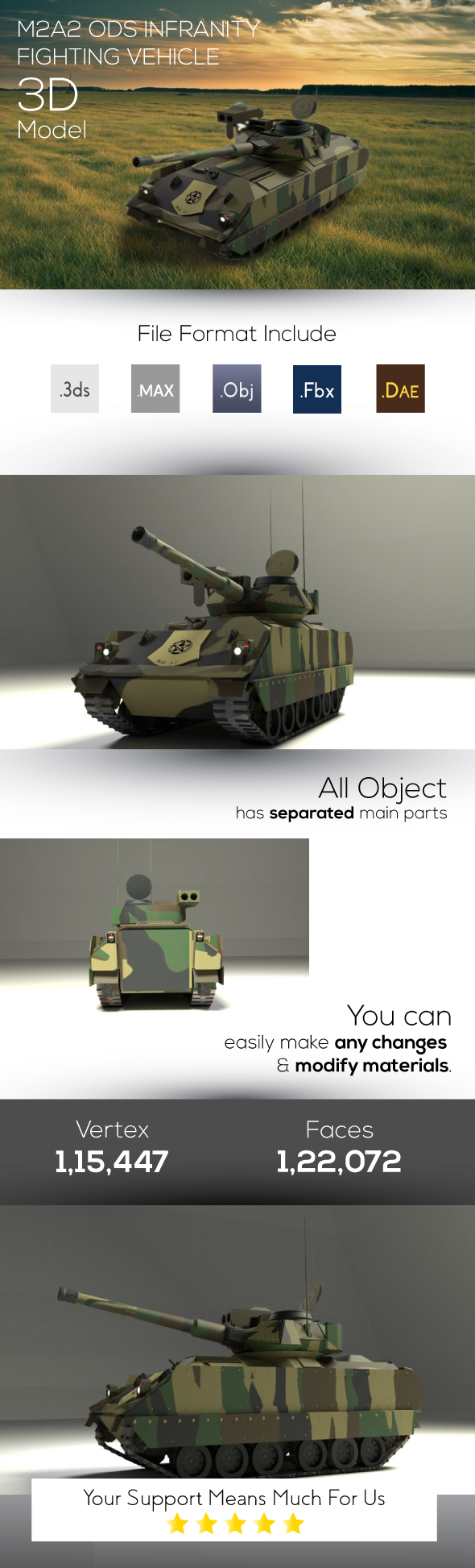 3DOcean M2A2 Infranity Fighting Vehicle 3D Model 19910905