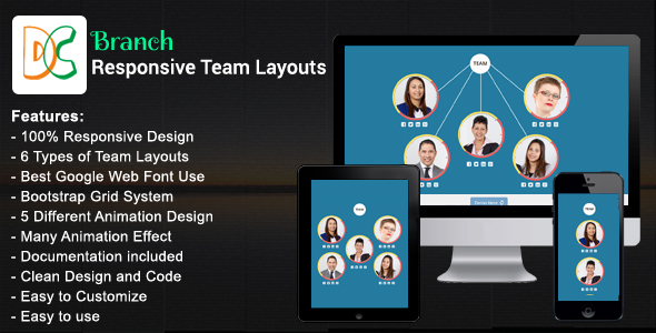 Branch - Responsive Bootstrap Team Layouts - CodeCanyon Item for Sale