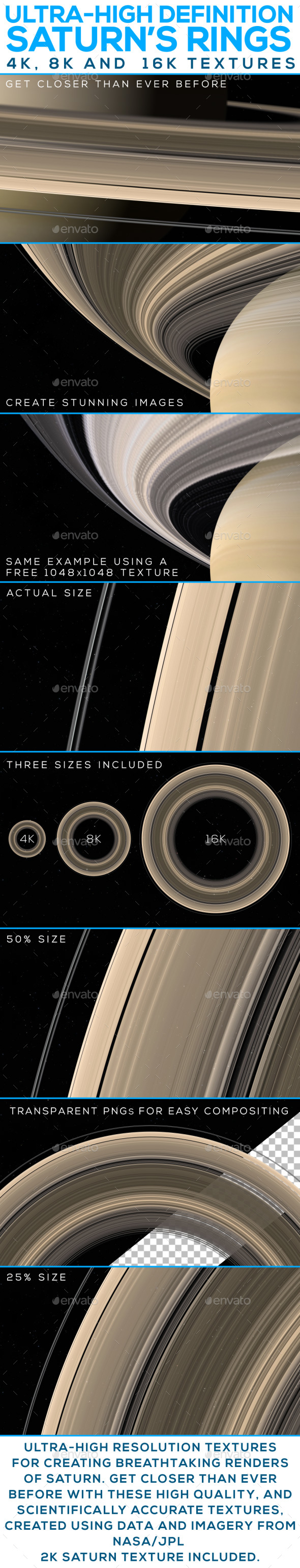 3DOcean Ultra-High Definition Saturn's Rings 19911769
