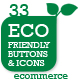 Eco Store Sustainable Ecommerce Buttons and Icons