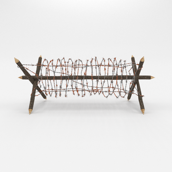 3DOcean Barb Wire Obstacle 1 19912269