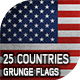25 Grunge Flags - 25 Countries