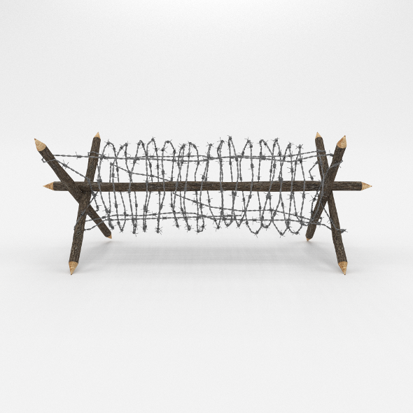3DOcean Barb Wire Obstacle 2 19912759
