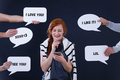 Woman using a communicator