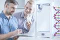 Scientists testing 3d printer
