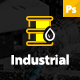 Industrial - Industry & Shipping Business PSD Template