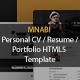 MNABI Personal CV/Resume Portfolio HTML5 Template