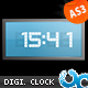 Flash Digital Clock 01 AS3 - ActiveDen Item for Sale