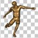 Golden Soccer Player Shooting
