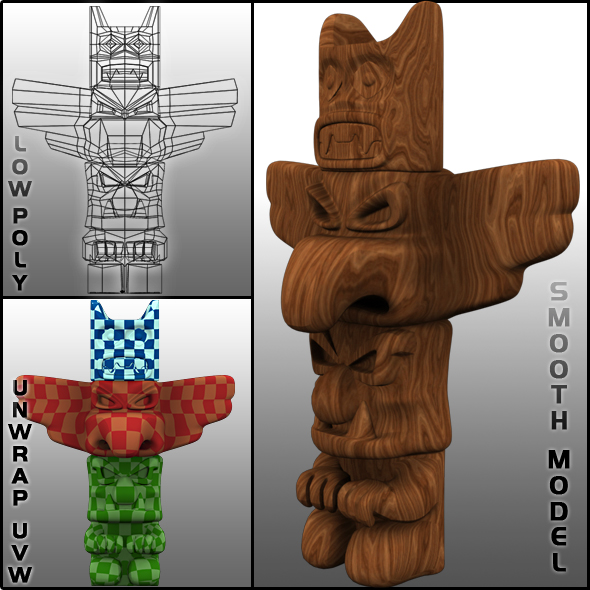 3D TOTEM - 3DOcean Item for Sale