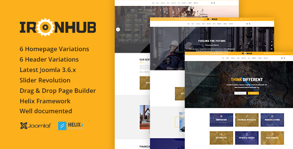 IronHub - Industrial / Factory / Engineering Joomla Template