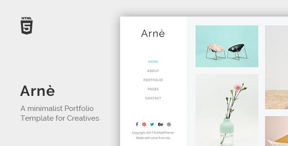 Arne - Minimal Creative Portfolio Template