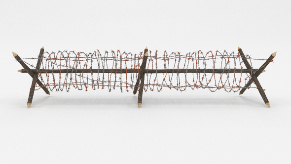 3DOcean Barb Wire Obstacle 3 19917392