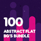 100 Abstract Flat Backgrounds Bundle