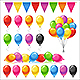 Set of Bright Glossy Colored Balloons